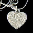 Timeless Bridal Wedding Swarovski Crystal Heart Pendant Necklace