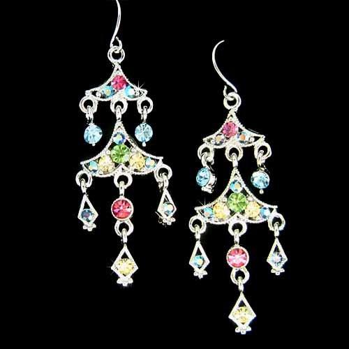 Drag Queen Chandelier Bridal Wedding Swarovski Crystal Earrings