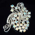 Bridal Swarovski Crystal Wedding Butterfly Flower Bouquet Brooch