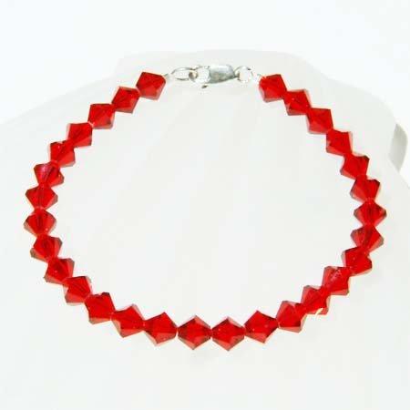 Siam Birthstone January Birthday Lady Swarovski Crystal Bracelet