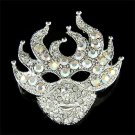 Mardi Gras Costume Must Have! Swarovski Crystal Mask Brooch