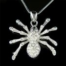Gothic Swarovski Crystal Toxic Sexy Black Widow Spider Necklace