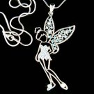 Big Tinkerbell Fairy Angel Pixie Star Swarovski Crystal Necklace