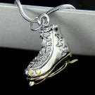 Swarovski Crystal Skiing Hockey Skate Ice Skating Shoes Necklace
