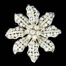 Brial Wedding Swarovski Crystal Sparkle Sunflower Bouquet Brooch