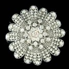 New Swarovski Crystal Starburst Flower Brooch for Wedding Dress