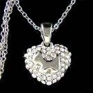 Scottish Terrier Scottie Westie Heart Swarovski Crystal Necklace