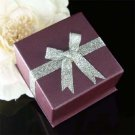 Luxury Burgundy Silver Ribbon Gift box