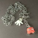 Mickey Mouse Red Pants and White Hand Swarovski Crystal Necklace