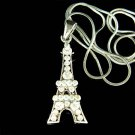 Swarovski Crystal Paris Eiffel Tower Honeymoon Souvenir Necklace