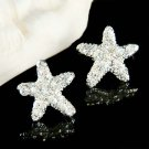 Beach Wedding Bridal Ocean Starfish Swarovski Crystal Earrings