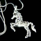 Swarovski Crystal Western Equestrian Horse Mustang Necklace