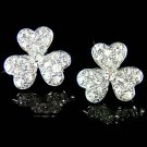 Swarovski Crystal 3 Leaf Clover Irish Ireland Shamrock Earrings