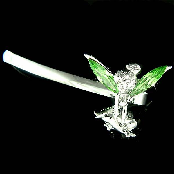 Green Tinker Swarovski Crystal Tinkerbell Fairy Bobby Hair Pin