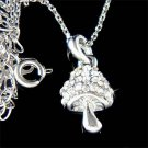 Swarovski Crystal Wild Magic Mushroom Necklace for Smurfs Fan