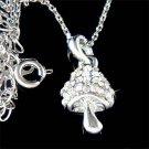 Swarovski Crystal Wild Magic Mushroom Necklace for Smurfs Fan