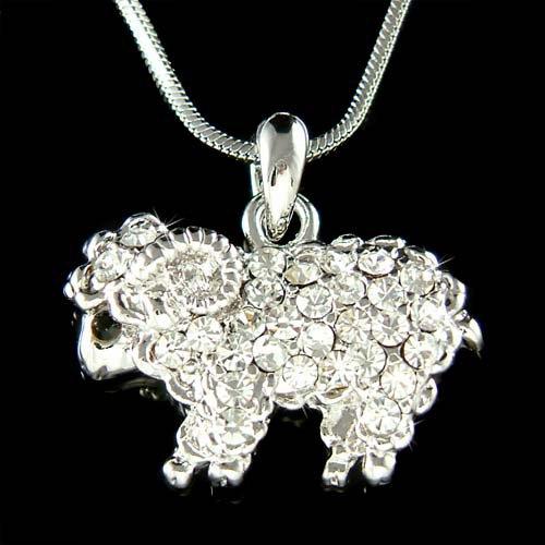 Swarovski Crystal Nature Mountain Bighorn Sheep Pendant Necklace