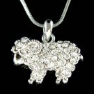 Swarovski Crystal Nature Mountain Bighorn Sheep Pendant Necklace