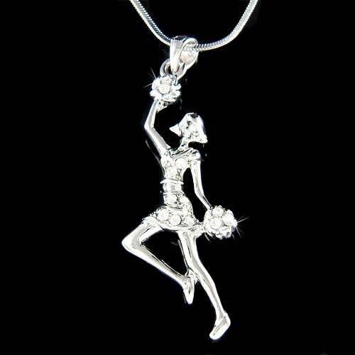 Sport Team Swarovski Crystal All Star Cheerleader Chain Necklace