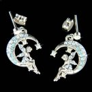 Swarovski Crystal Pixie Faiy Tinkerbell in Moon Tinker Earrings