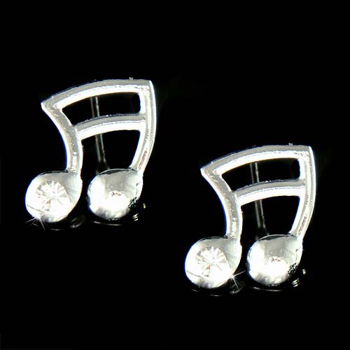 Swarovski Crystal Semiquaver 16th Music Note Musical Earrings
