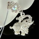 Swarovski Crystal Lucky Elephant Flower Cell Phone Charm Strap