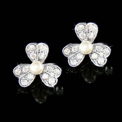 Irish Swarovski Crystal 3 Leaf Clover Ireland Shamrock Earrings