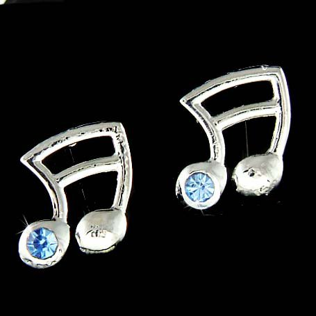 Swarovski Crystal 16th Music Note Semiquaver Musical Earrings
