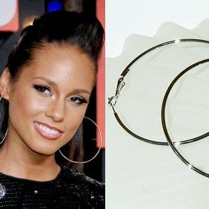 "3 1/2"" (90mm) Huge Celebrity White Gold-Plated Hoop Earrings"