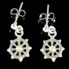 Captain of Ship Swarovski Crystal Wheel Nautical Stud Earrings