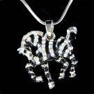 Swarovski Crystal Black & White Striped Zebra Safari Necklace