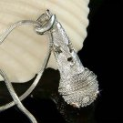 Swarovski Crystal 3D Singer Mic Microphone Star Pendant Necklace