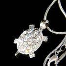 Swarovski Crystal Sea Turtle Tortoise Pendant Girls Necklace