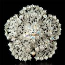 Swarovski Crystal AB Filigree Flower Floral Bouquet Brooch