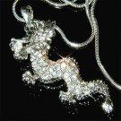 Legendary Myth Clear Dragon Swarovski Crystal Pendant Necklace