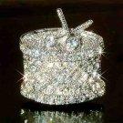 Swarovski Crystal Drum Musical Instrument Pin Brooch