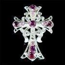 Swarovski Crystal Christening Gift! Jesus Christ Cross Brooch