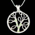 Swarovski Crystal Circle of Life Family Celtic Tree Pendant Necklace