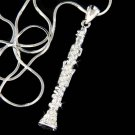 Swarovski Crystal Woodwind Clarinet Music Instrument Necklace