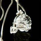 Fleur De Lis New Orleans Saints Football Helmet Crystal Necklace