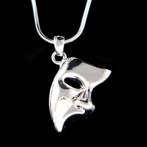 Phantom of the Opera Masquerade Mask Pendant Unisex Necklace