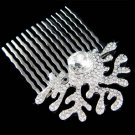 Swarovski Crystal Beach Wedding Coral Bridal Jewelry Hair Comb