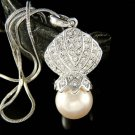 Swarovski Crystal Beach Wedding Seashell Pearl Pendant Necklace