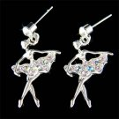 Swarovski Crystal Purple The Nutcracker Ballet Ballerina Earrings