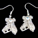 Swarovski Crystal Ice Skating Skate Figure Hockey Girls Women Earrings