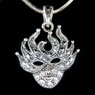 Swarovski Crystal Mardi Gras Party Masquerade Mask Halloween Necklace