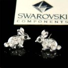 Swarovski Crystal Cute Easter Dainty Bunny Rabbit Stud Girls Earrings