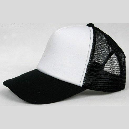 NEW CASUAL TRUCKER HAT CAP (BLACK & WHITE)