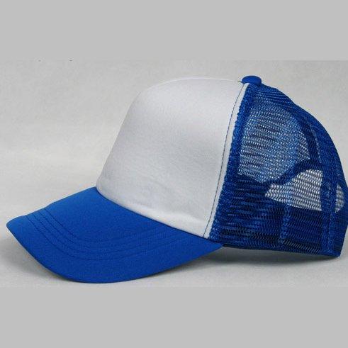 NEW CASUAL TRUCKER HAT CAP (BLUE & WHITE)