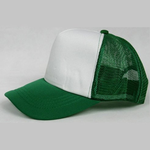NEW CASUAL TRUCKER HAT CAP (GREEN & WHITE)